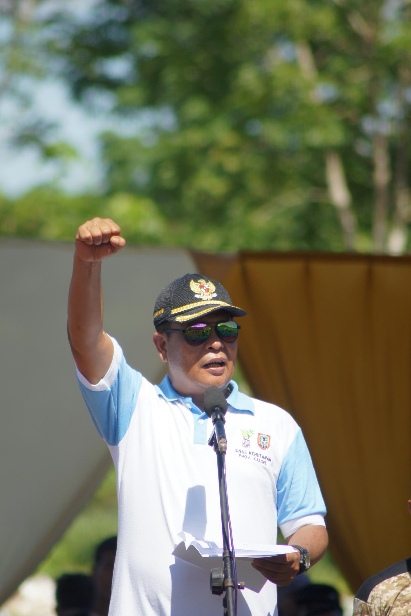 Sambutan oleh Gubernur Provinsi Kalimantan Selatan - H. Sahbirin Noor, S.Sos, M.H
